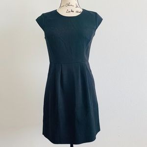Loft | Solid Black Knit Dress | Size 2